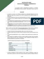 3. Políticas Del Curso Finanzas I