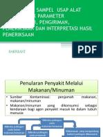 05. Pengambilan Sampel Usap Alat Makan Untuk Parameter Mikrobiologi, Pengiriman