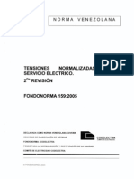 159-2005 Tensiones Normalizadas Del Servicio Electrico