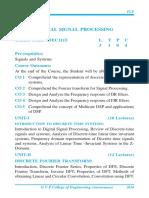 DSP syllabus