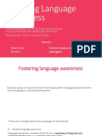 Chapter 7 - Fostering Language Awareness