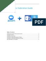 ZOOM Lync Federation Guide 1.1