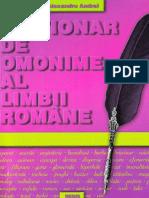 Dictionar de Omonime Al Limbii Romane - Alexandru Andrei
