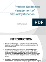 Clinical Practice Guidelines for Management ofSexual Dysfunction