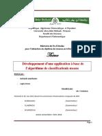 Application a Base de Lalgorithme de Classificationk Means