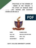 comparative study of chishti silsilah