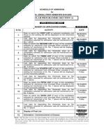 Merit Lists Schedule Regular
