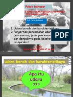 Karakteristik Kimia Udara Bersih Dan Proses Pencemaran Udara