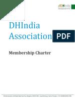 DHIndia Association - Membership Charter