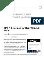 BPC 11 version for BW4HANA