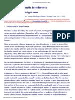 Overcoming Phonetic Interference - Wells