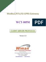 WT-805M Modbus Protocol V2.3