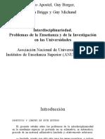 Leo Apostel y Otros - Interdisciplinariedad (Introducción y Capítulo I)