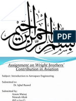 History of Aircraft and contribution of wright brothers