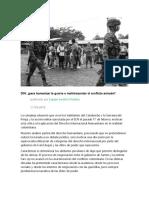 ¿DIH Para Humanizar La Guerra o Malinterpretar El Conflicto Armado? Colombia
