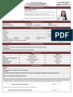 Rona Mae Reyes Cruz - Application Form