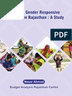 Gender Responsive Budgeting in Rajasthan