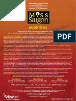 MISS SAIGON Audition Herbst 2019