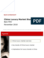 China Luxury Market Study 2010