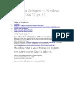 Microsoft Windows Server 2008 R2 - Auditoria de Logon