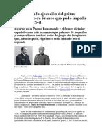 La Inesperada Ejecución Del Primo Republicano de Franco Que Pudo Impedir La Guerra Civil