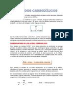 ACIDOS CARBOXILICOS - ESTERES