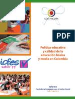 Política Educativa y Calidad de La Educación Básica