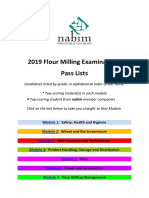 2019 Examination Pass List