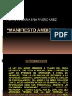 Manifiesto Ambiental