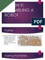 LESSON 9 Assembling a Robot
