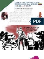 Feminicidio Conferencia Dra Romero