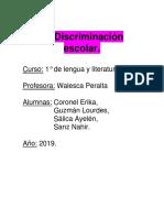 La Discriminación Escolar