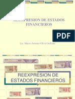 2018presentacion Reexpresion de Estados Financieros