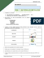 cuestionario de materiales