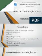 Materiais de Construcao Civil I