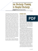 Medication Discharge Planning Prior to Hospital Discharge