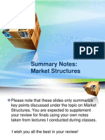 Summary Notes - Market Structures