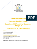 Electrical Services Concept Design Report