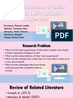 The Lived Experiences of Indian students in Emilio Aguinaldo College-Cavite