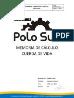 MEMORIA DE CALCULO CUERDA DE VIDA