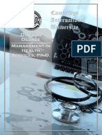 Management Health Services PhD