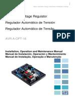 WEG Regulador Autom Tico de Tens o AVR a OPT 16 Manual en Es Pt