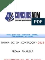 QC IM Contabilidade Amarela 2013 - CUSTOS