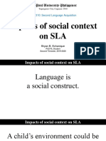 Report - Impacts of Social Context on Sla