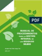 Manual de Procedimientos Gestion Residuos
