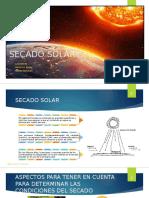 Expo Secado Solar Operaciones 2