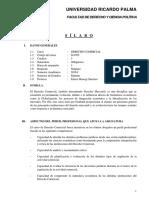 Silabo Derecho Comercial 2016-i