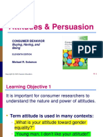 Ch 8 Attitudes and Persuasion