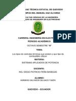 Tipos de Centrales Térmicas y Unidades de Combustible-Salvador Delgado