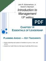 Ch14 - Essential of Leadership